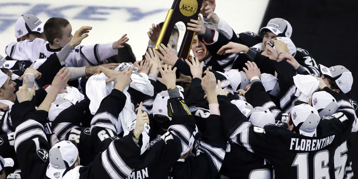 2013-14 Providence College Friars — The NCAA Hockey Champions Celebrate at the Frozen Four