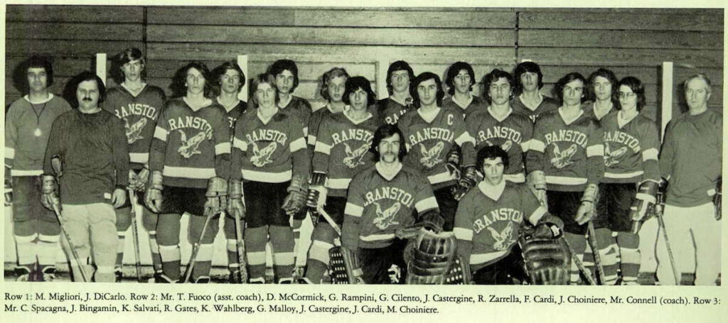 1974 Cranston West State Champs