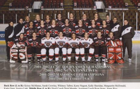 2001-02 Brown University Women's NCAA Frozen Four Team